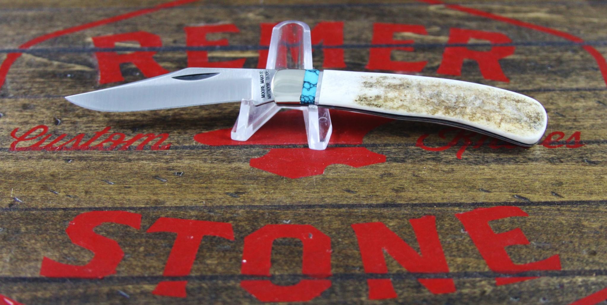Moore Maker 3202B Elk Turquoise 1 Blade - 2
