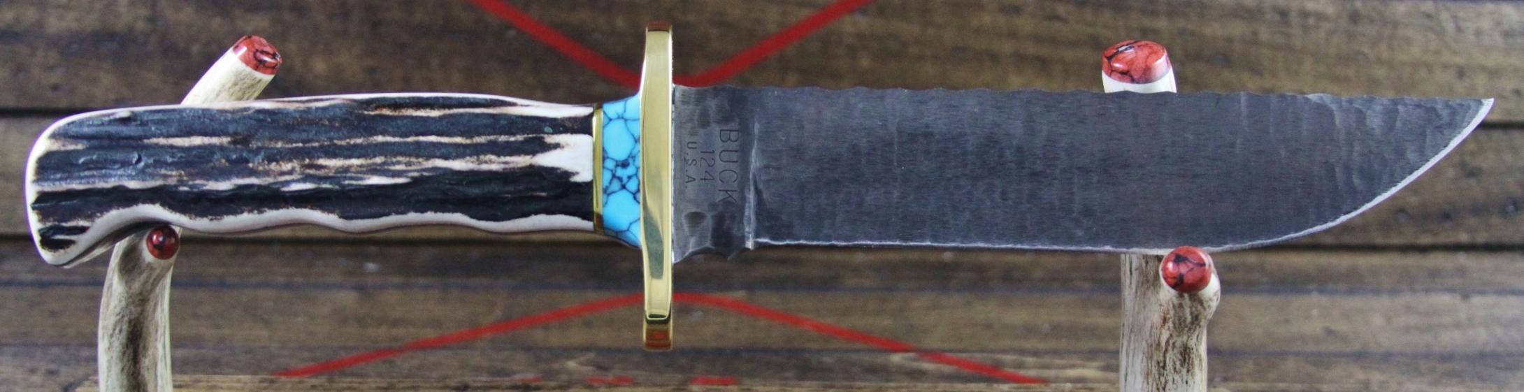 Sambar Stag Slab Handle Material Example - 2